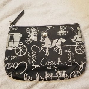 Coach makeup bag with stagecoach
